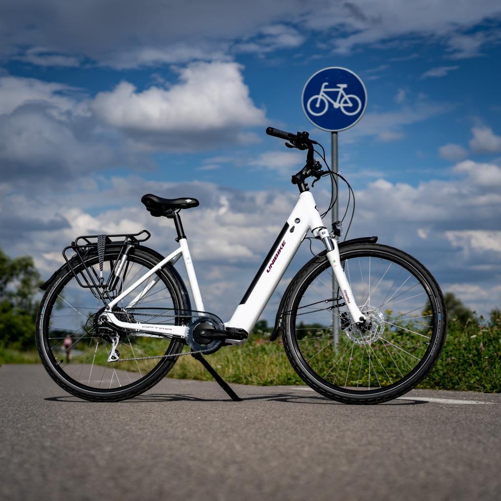 rower elektryczny na ścieżce rowerowej
